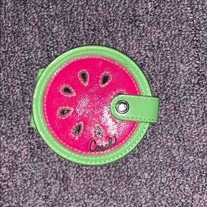 Mini coach  watermelon compact mirror